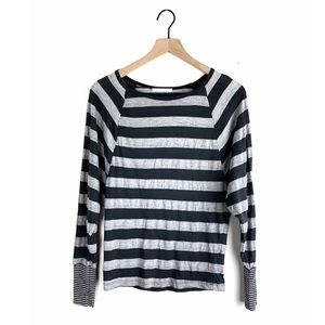 7 For All Mankind Striped Dolman Sleeve Top